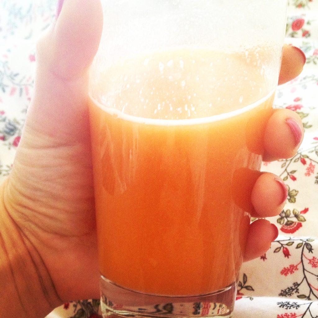 Papaya and pineapple juice