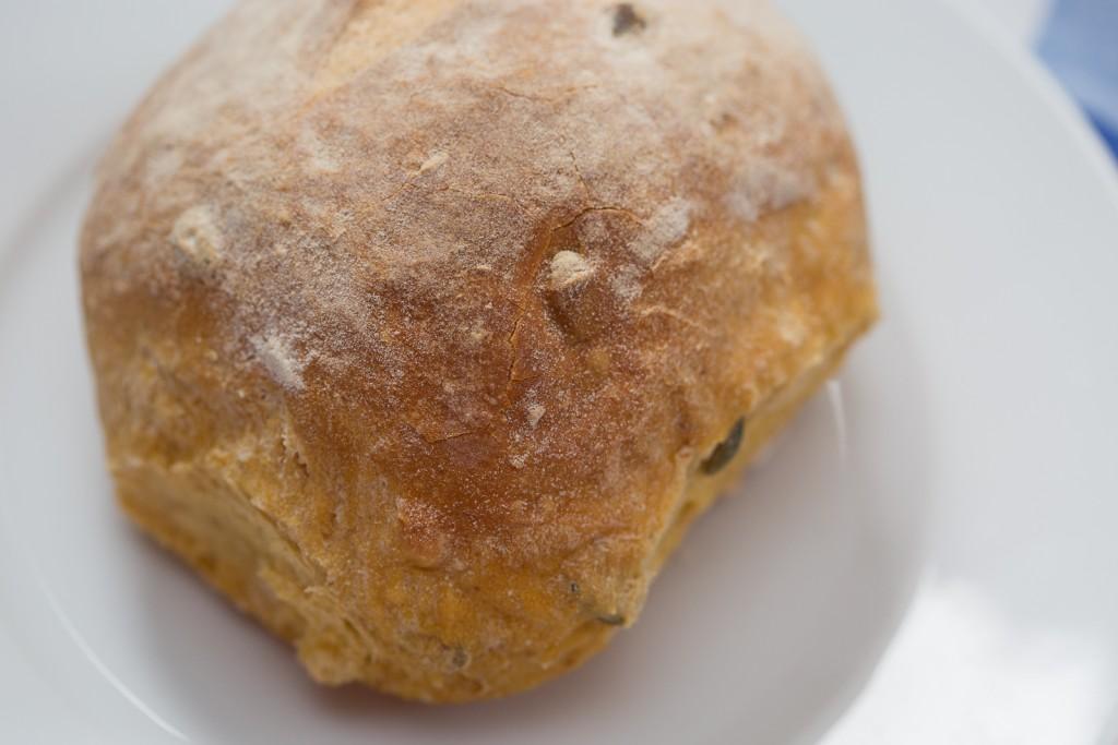 Delicious pumpkin bread roll