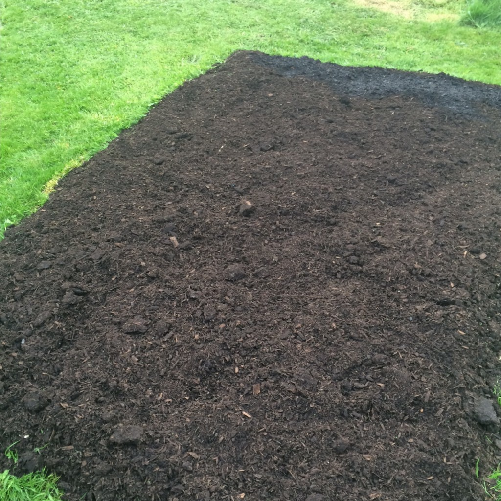 Mulched no dig bed