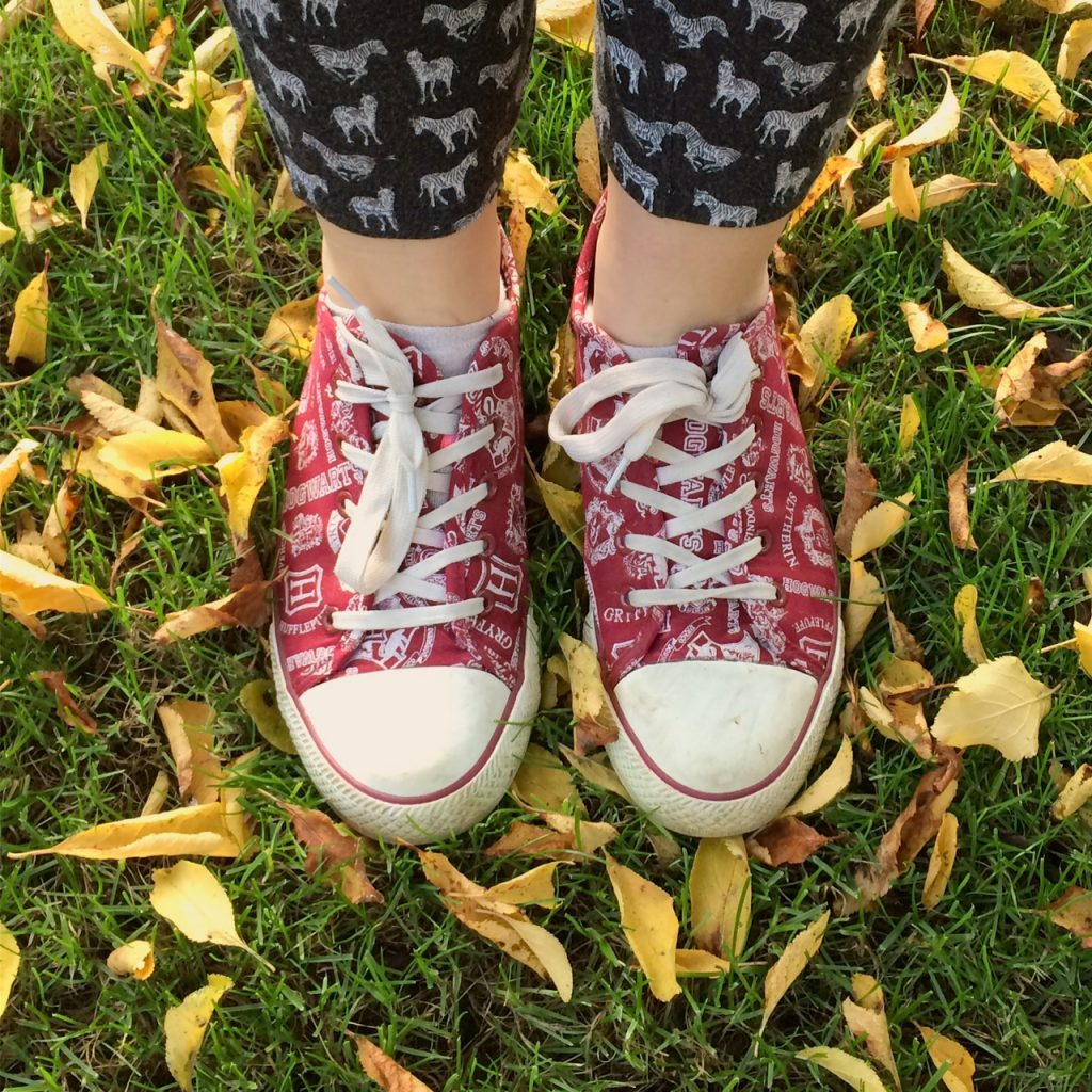 Hogwarts shoes and Autumn leaves