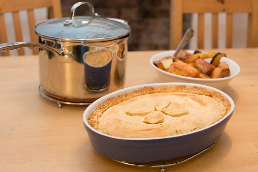 Lentil butternut squash vegan pie